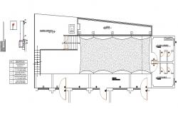 Top view terrace detailing plan