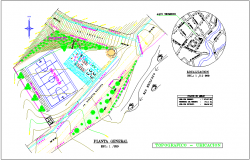Topographic location plan of maternity and pediatric care center dwg file