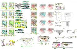 Tourist architecture projects drawing in cad files