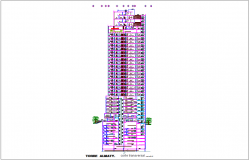 Tower section view with sectional B-B' view with architectural view dwg file