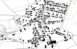 Town Planing Design Lay-out in Autocad file