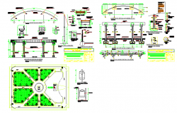 Town building plan structure and design view with dwg file
