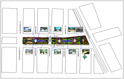 Town plan view detail dwg file