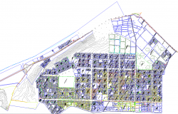 Town planning of urban project
