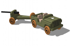 Toy jeep detail elevation 3d model sketch-up file