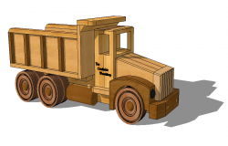 Toy truck detail 3d model layout sketch-up file