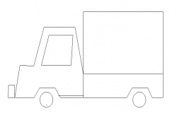 Toy truck front elevation detail