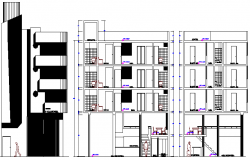 Trace Complex Architecture Design and Elevation dwg file