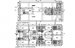 Trade residence layout plan dwg file