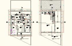 Trade residence layout plan dwg file
