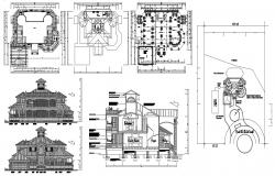 Traditional Attic House Project CAD File