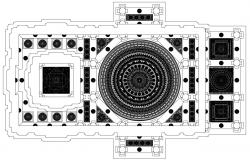 Traditional Design Of Temple Ceiling Plan AutoCAD File
