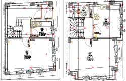 Traditional One Family House Floor Plan Structure Details dwg file