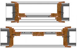 Traditional Window Frame Design and Elevation dwg file