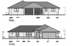 Traditional concept building elevation