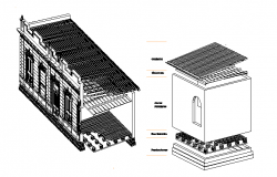 Traditional house 3d details