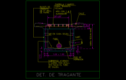 Trailer plan detail dwg file