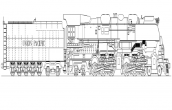 Transportation Train CAD machinery detail elevation layout autocad file