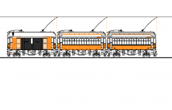 Transportation Train detail elevation 2d view layout file