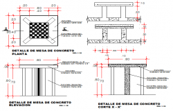 Trash bin construction details of bank details dwg file