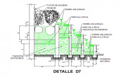 Tree Plantation detail DWG file