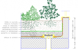 Tree plant architecture details dwg file