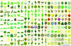 Trees and plants cad blocks