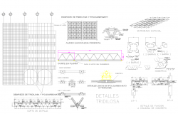 Tridilosa detail in autocad files