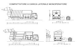 Truck Vehicle detail CAD block layout file in autocad format