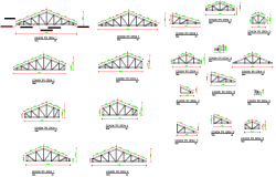 Truss section plan autocad file