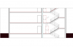 Tube of stairway section plan detail dwg file.
