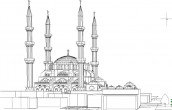 Turkey government research center elevation dwg file