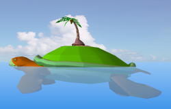Turtle shape island detail elevation 3d model sketch-up file