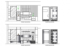 Tv unit elevation design file