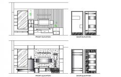 Tv unit elevation design file