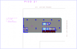 Twenty one number floor plan of corporate building dwg file