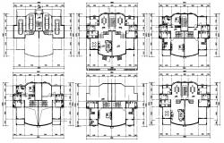 Twin Bungalow Floor Plan DWG File