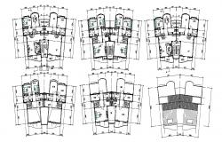 Twin House Floor Plan AutoCAD File