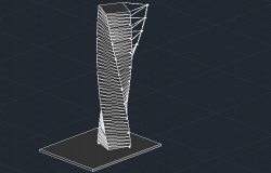Twisting Torso Tower 3D Design dwg file