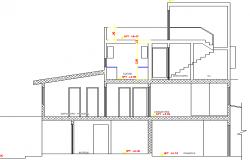 Two Flooring Family House Design and Elevation dwg file