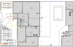 Two Flooring Family House Design and Structure Details dwg file