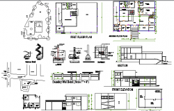 Two Flooring Private Hospital Architecture Project dwg file