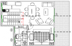 Two Flooring Residential Bungalow Design Structure details dwg file