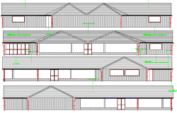 Two Flooring Restaurant Design and Elevation dwg file