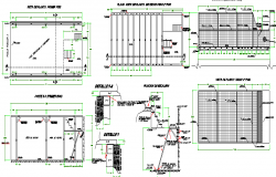 Two flooring commercial shop construction details dwg file