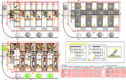 Two flooring house floor plan details dwg file