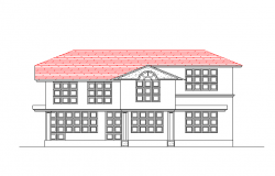 Two flooring house front elevation details dwg file