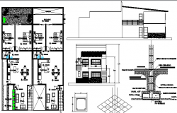 Two flooring housing project dwg file