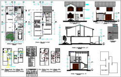 Two level one family house architecture project dwg file