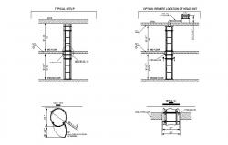 Two stop elevator installation details for house cad drawing details dwg file